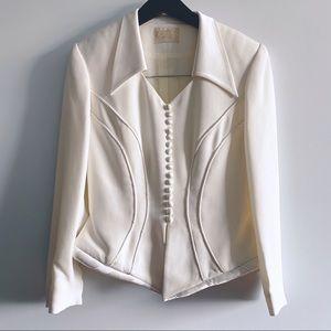 Vintage Alberto Makali Sport White Blazer Jacket